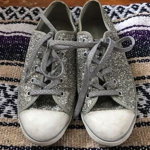 Silver sparkle converse- Limited edition